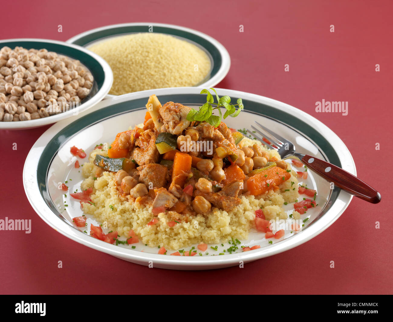 Couscous mit Lamm Studio Photo Stockbild