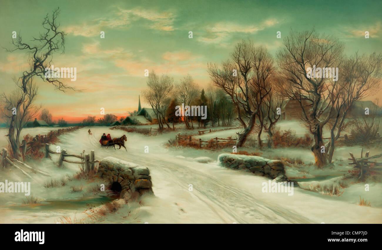 Horse Painting Christmas Stockfotos & Horse Painting Christmas ...