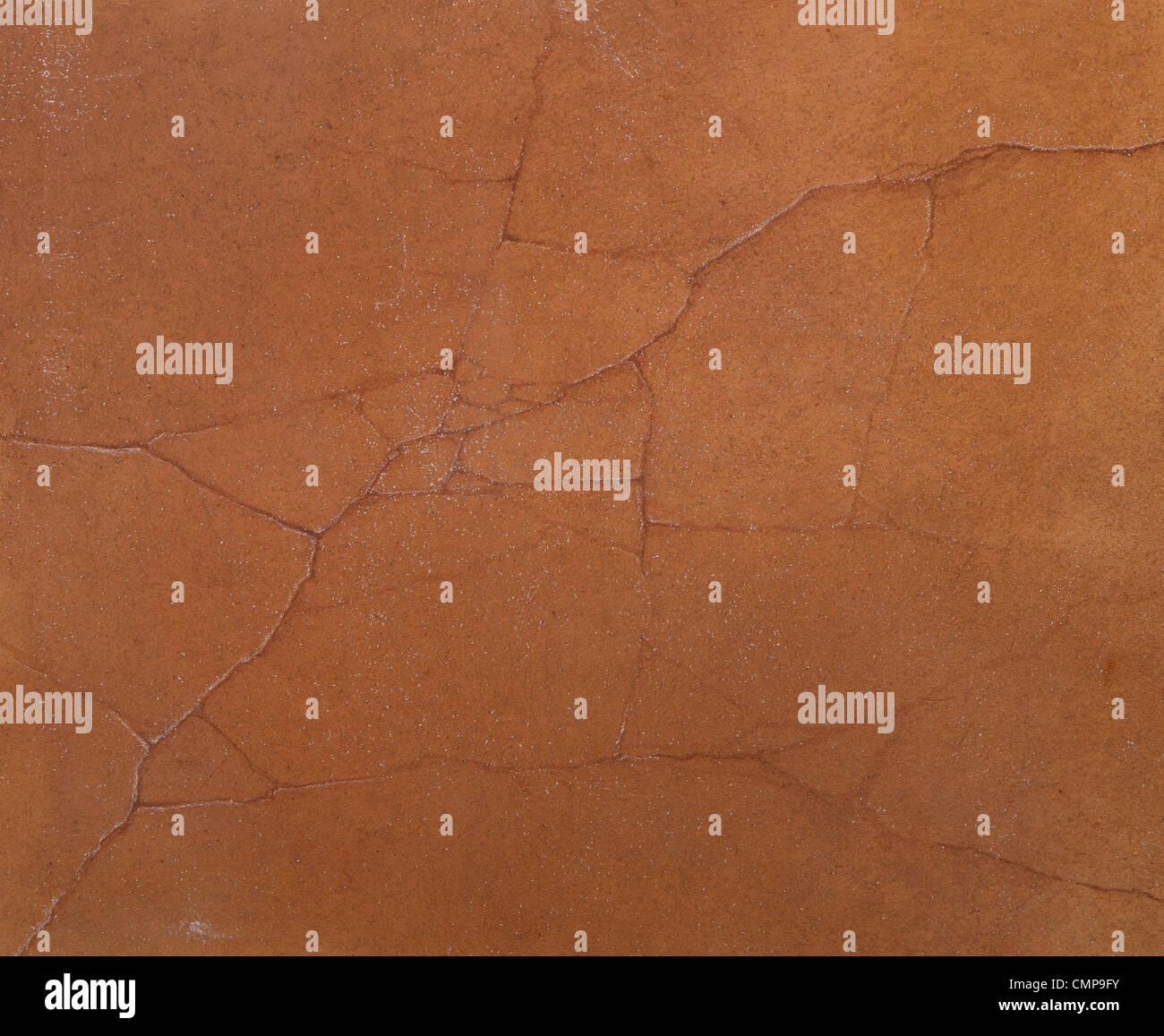 grobe Textur des Zements rissige Wände mit brauner Farbe Stockbild