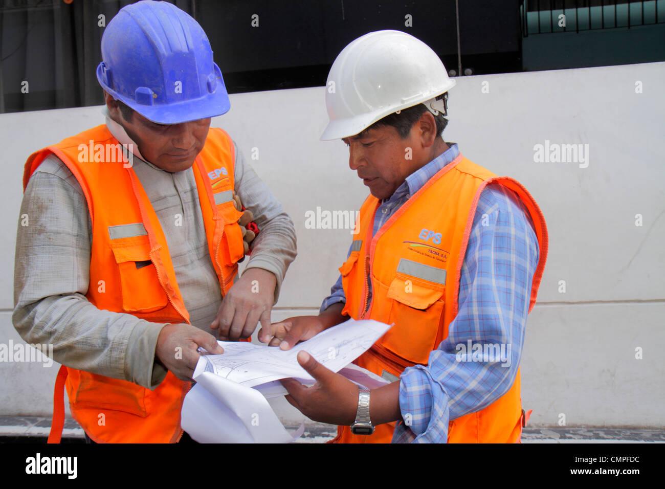 Peru Tacna Avenida 2 de Mayo Empresa Publica de Saneamiento EPS Tiefbau Infrastruktur Sanitär Wasser Abwasser Stockbild