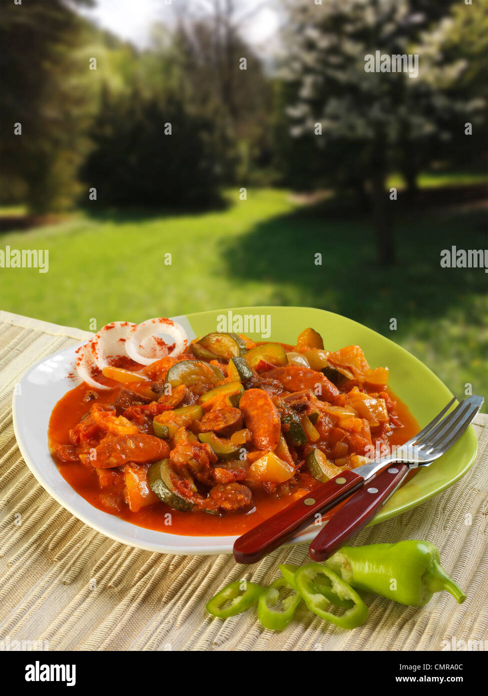 Letscho, Gemüseeintopf (Ungarn) Stockbild