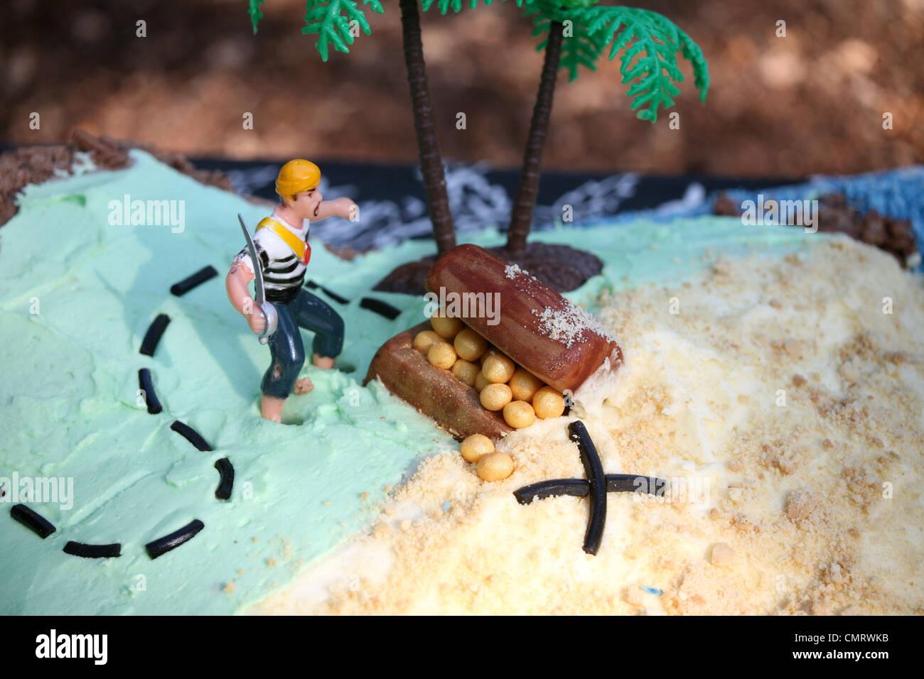 Piraten Geburtstagskuchen Stockfoto Bild 47238895 Alamy