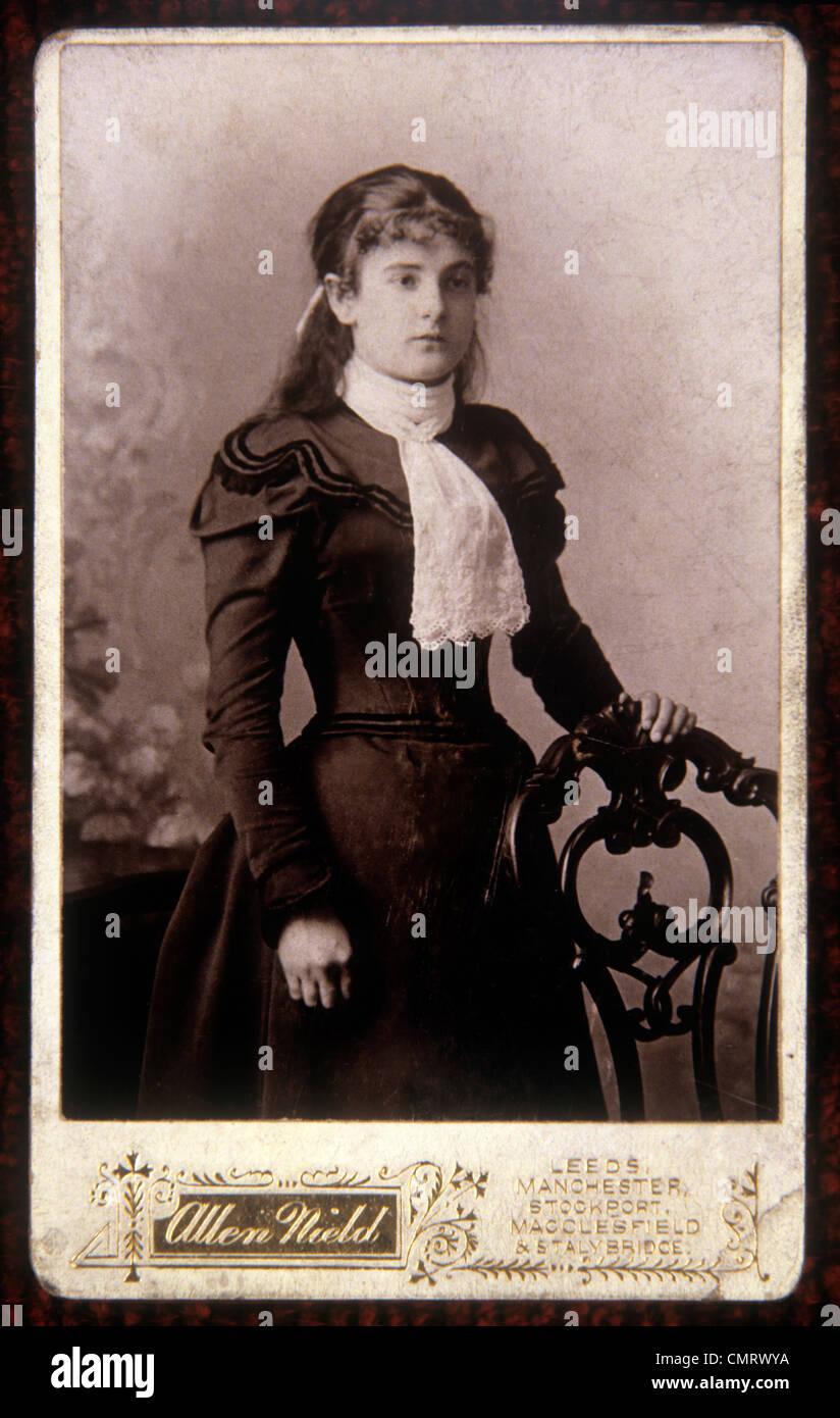 Fotografie Carte De Visite Portrat Stammt Aus Den 1890er Jahren Stockbild