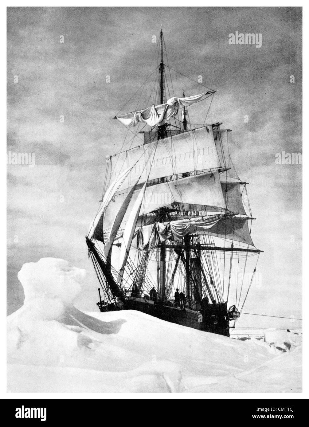 1924 Polar Explorer Terra Nova Captain Scott Terra-Nova-Expedition, offiziell die britische Antarktis-Expedition Stockbild
