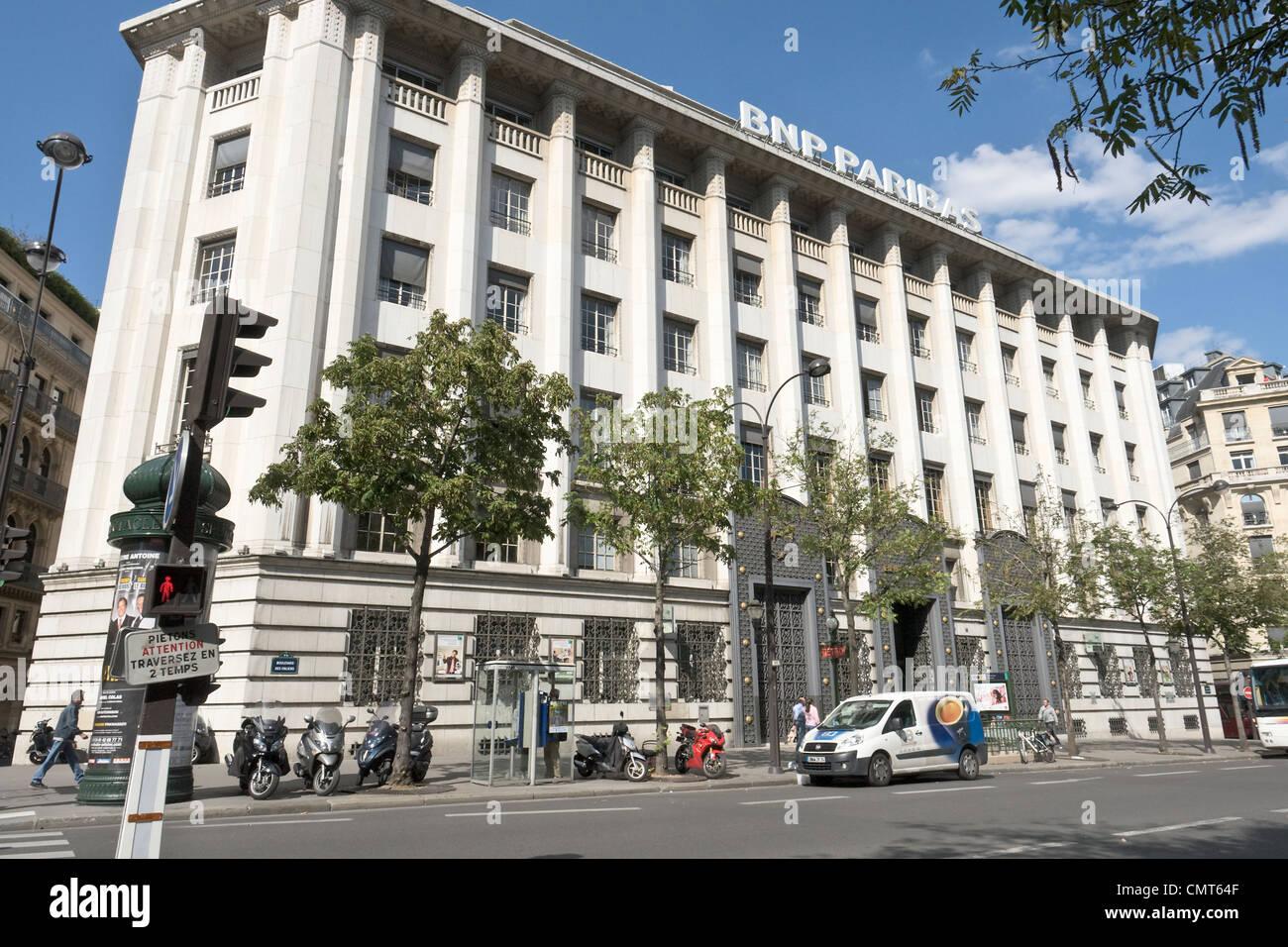 BNP Paribas HQ in Paris Stockbild