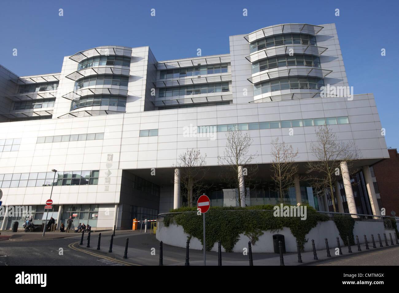 Eingang zum Royal Victoria Hospital West Belfast Nordirland Vereinigtes Königreich Stockbild