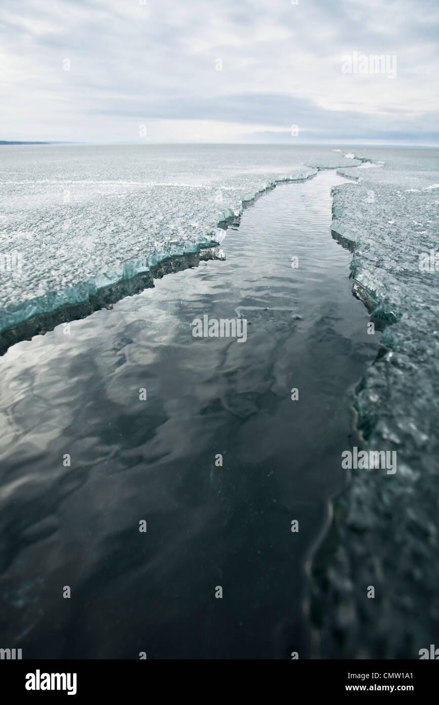 Gestoßenem Eis lane Stockbild