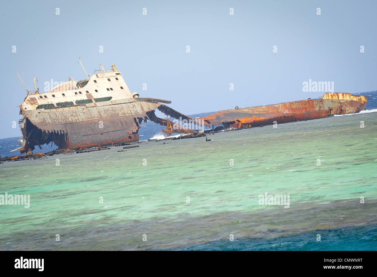 Untergang der Loullia (1981) von Tiran Insel Stockbild