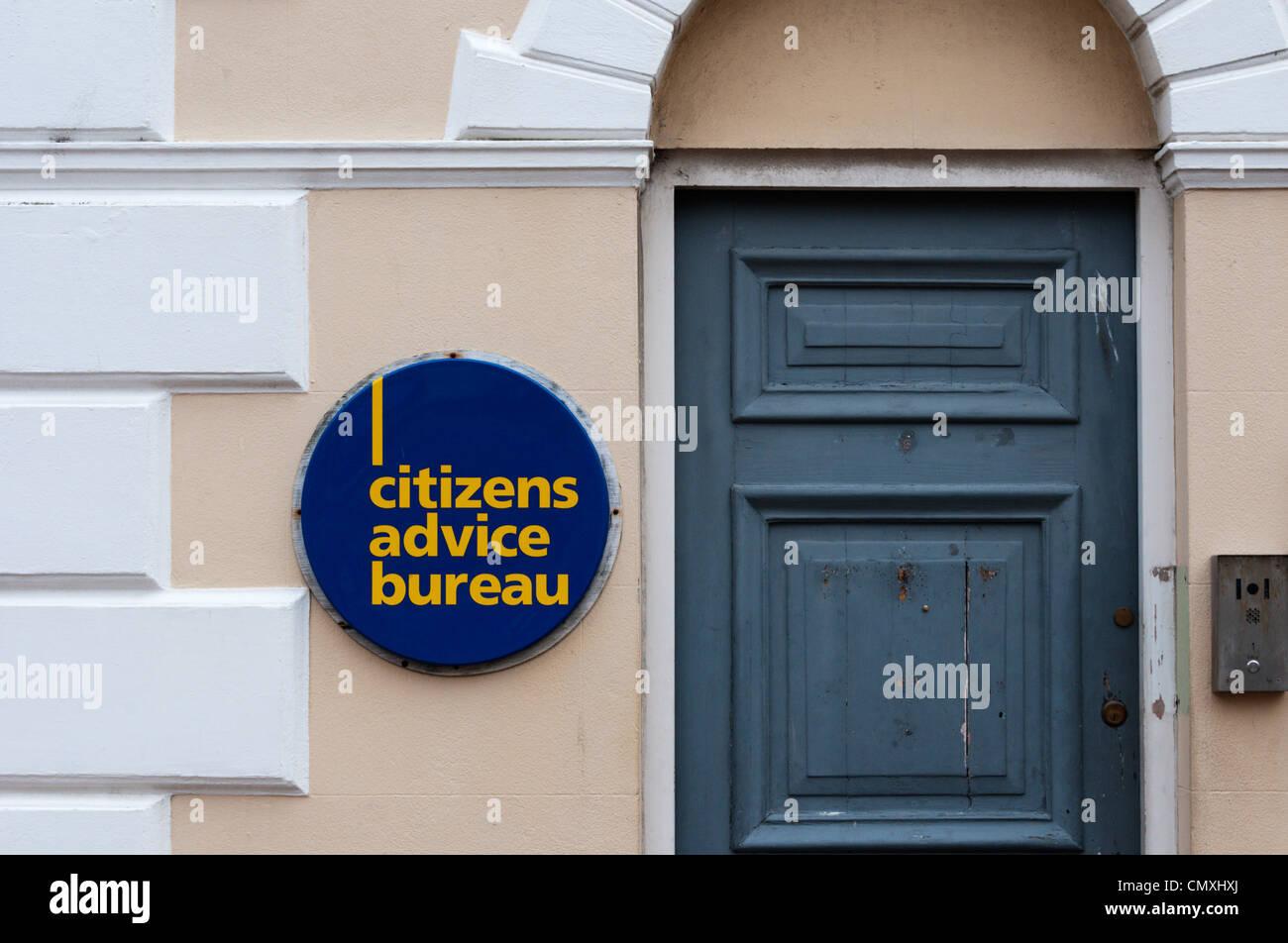 Citizens Advice Bureau in Margate, Kent. Stockbild