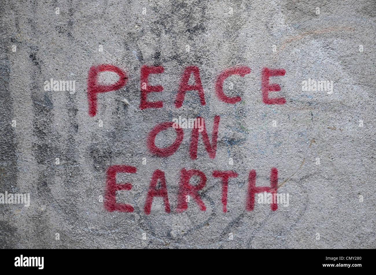 Traditionelle Weihnachtsbotschaft als Graffiti, nützlich als Alternative Weihnachtskarte Design! Stockbild