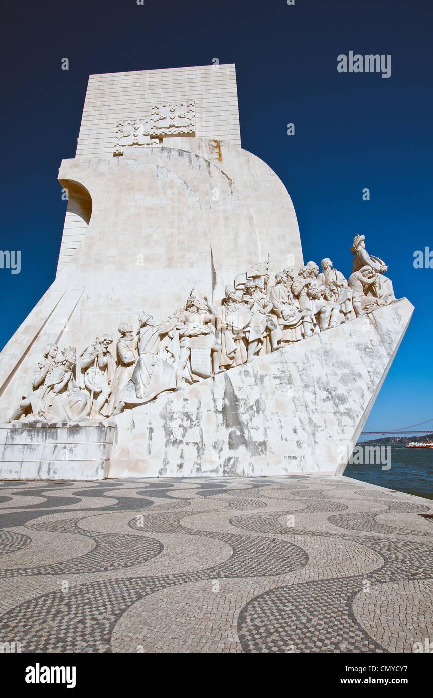 Das Padrão Dos Descobrimentos oder Denkmal der Entdeckungen in Belém, Lissabon, Portugal Stockbild