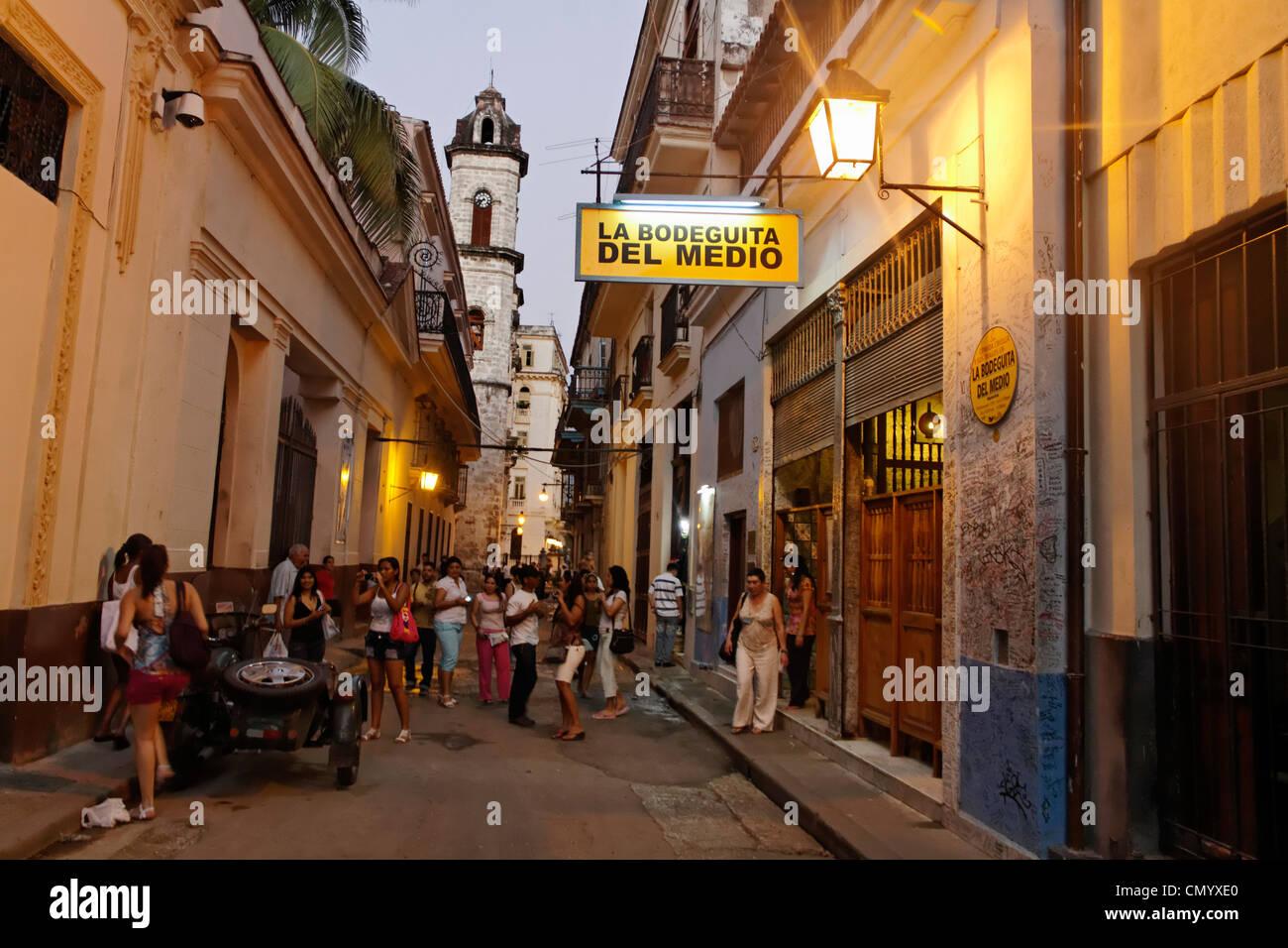 La Bodeguita del Medio, Havanna Viejo, Hemingways Bar in Havanna, Kuba, große Antillen, Antillen, Karibik, Stockbild