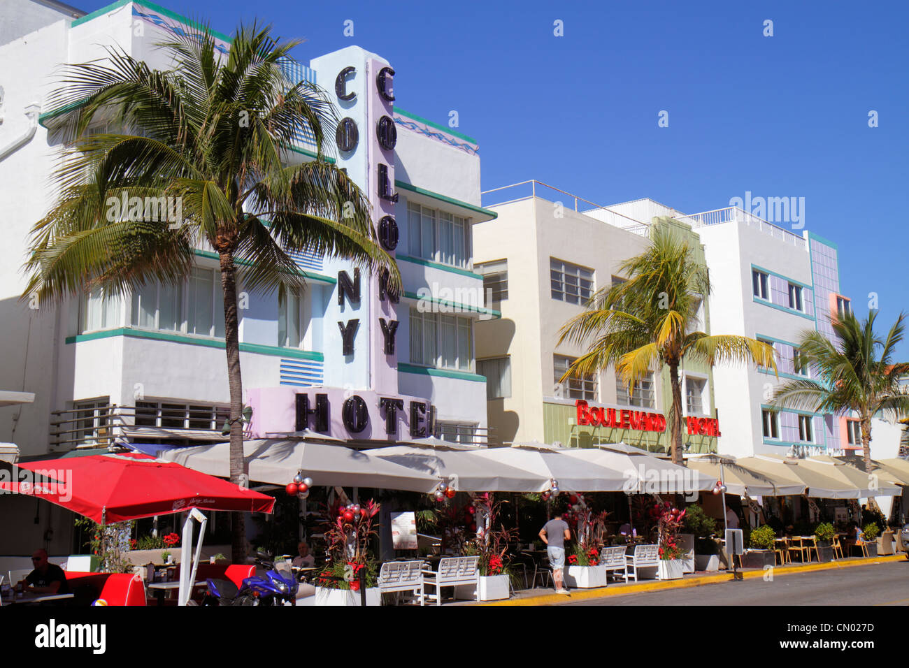 Miami Beach Florida Hotel Ocean Drive Art Deco Historic District