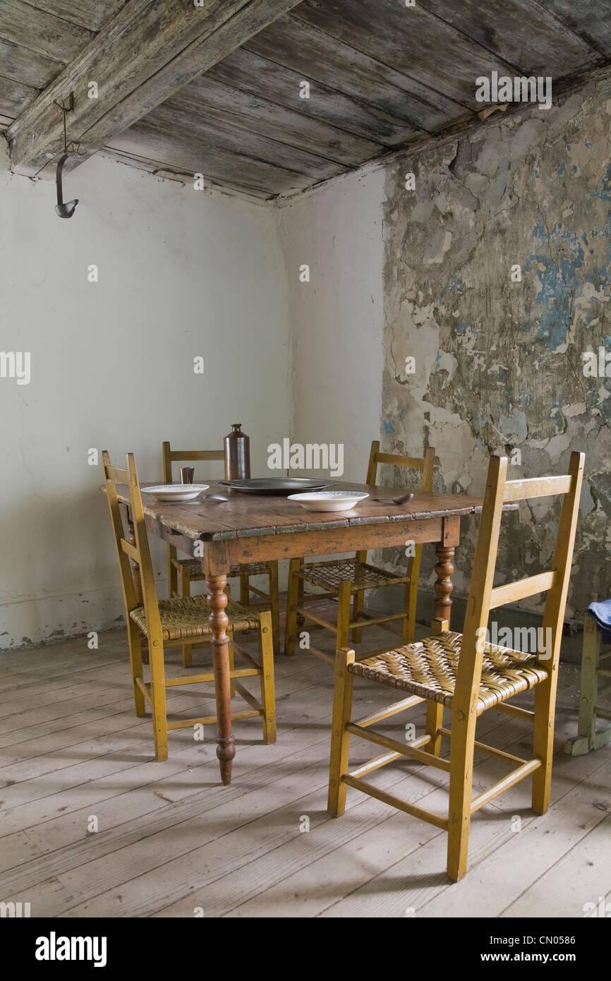 Antiker Esstisch Und Stühle Im Maison Drouin Ile D Orleans