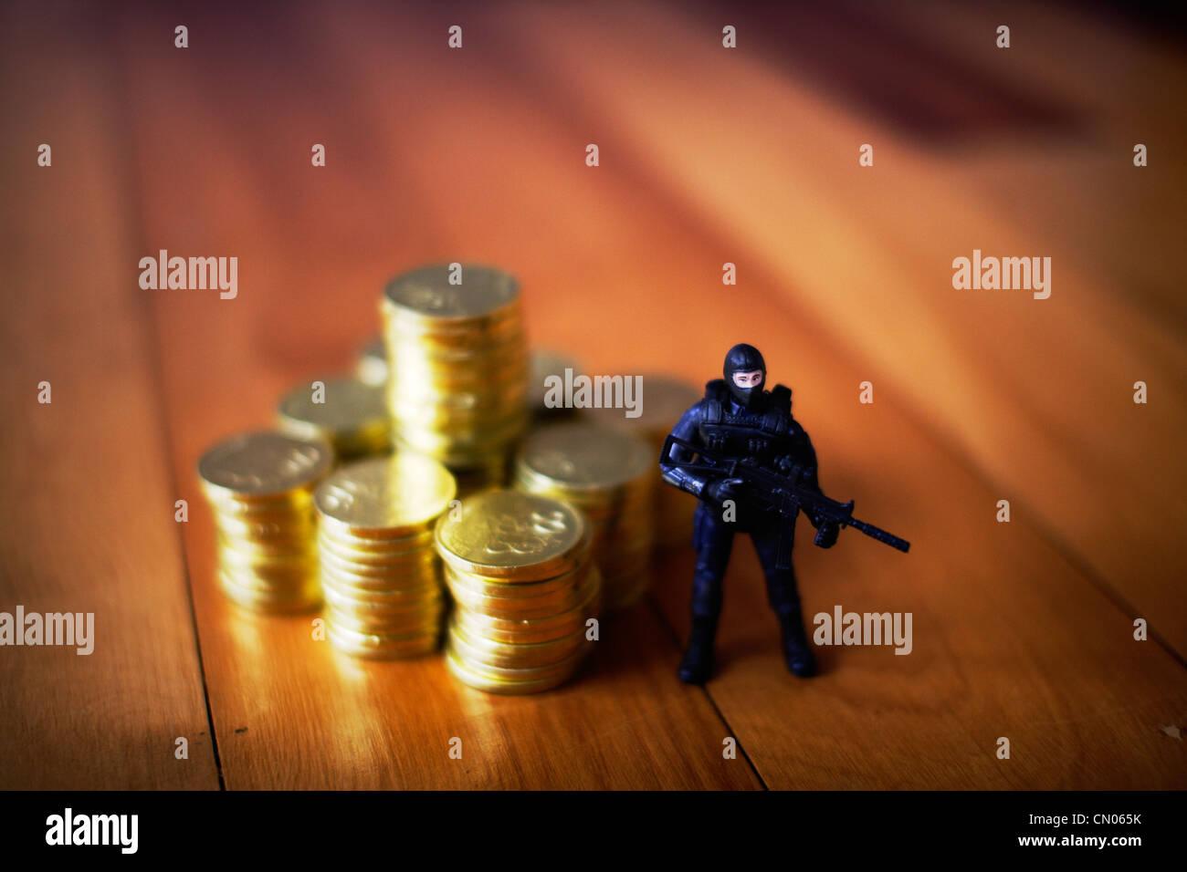 US-Notenbank: schützen Sie das Gold Stockbild