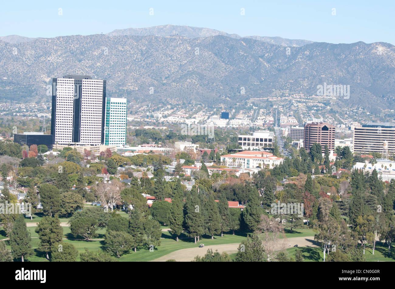 Blick auf die Stadt Stockbild