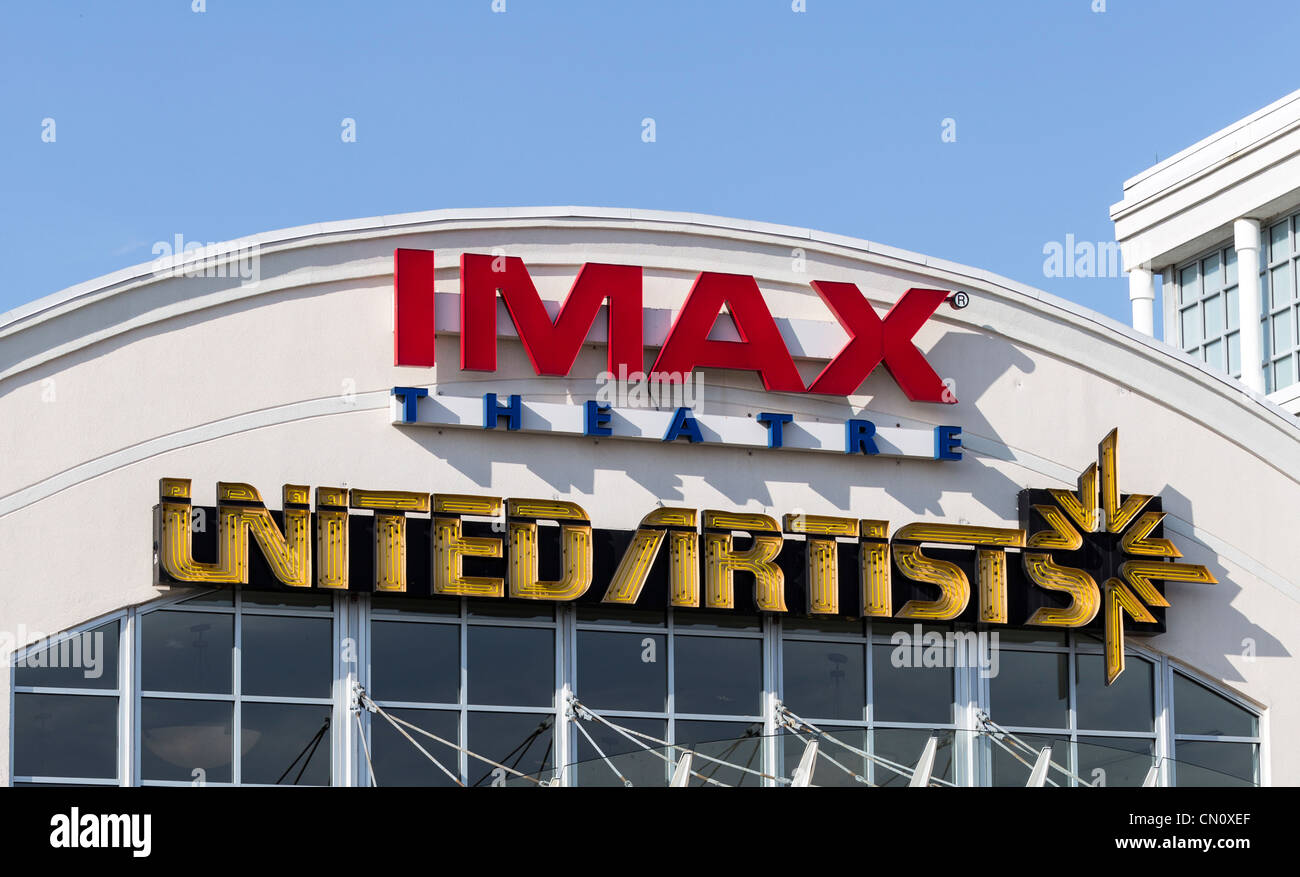 IMAX Film Theater United Artists, King Of Prussia Mall, Pennsylvania, USA Stockbild