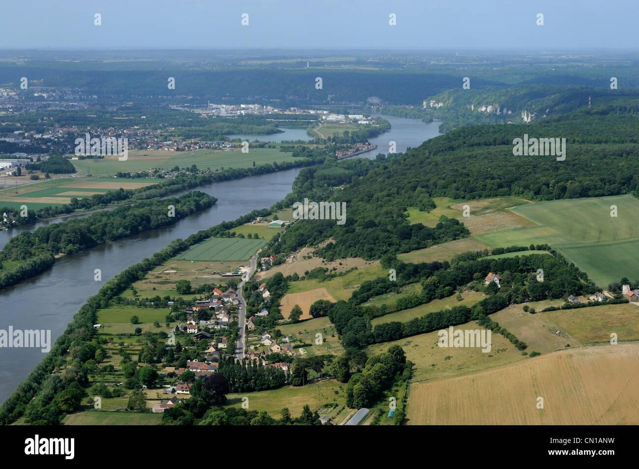 Frankreich, Seine Maritime, eine Schleife der Seine südlich von Rouen Stockbild