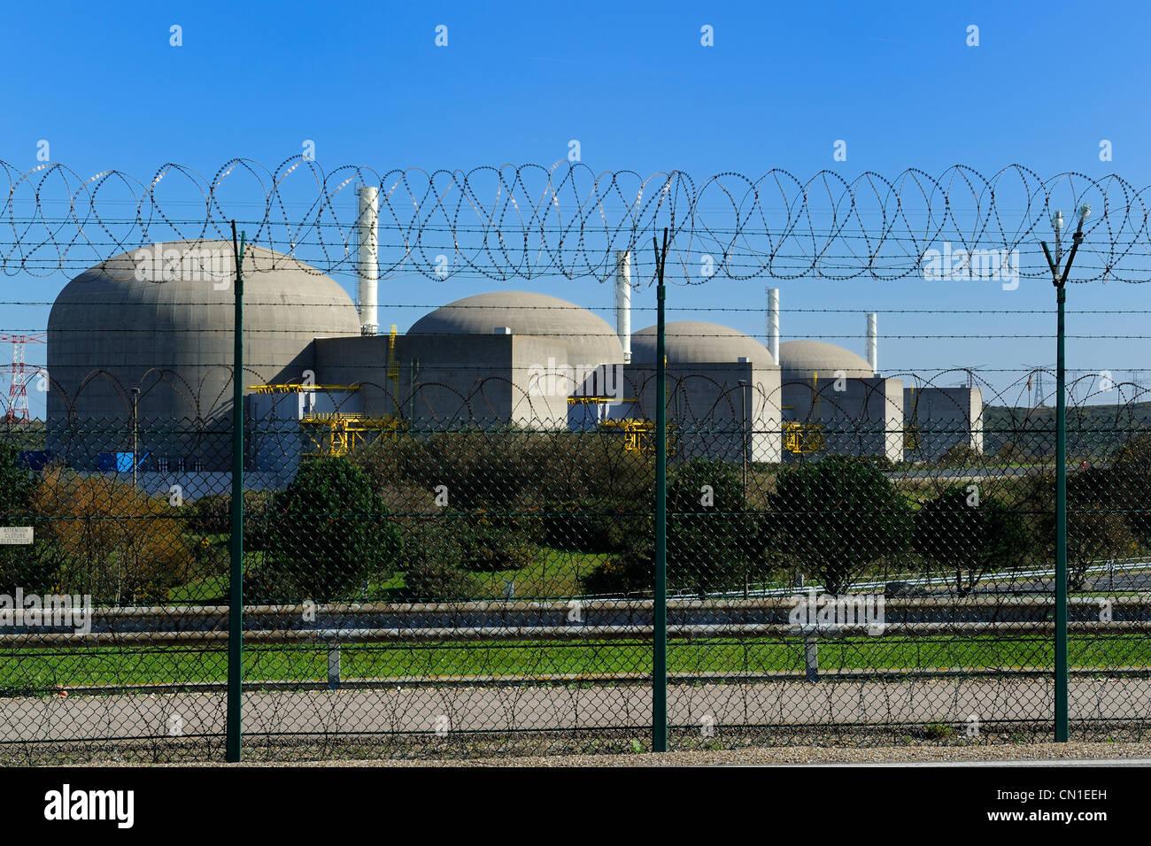 Frankreich, Seine Maritime, Kernkraftwerk Paluet Stockbild