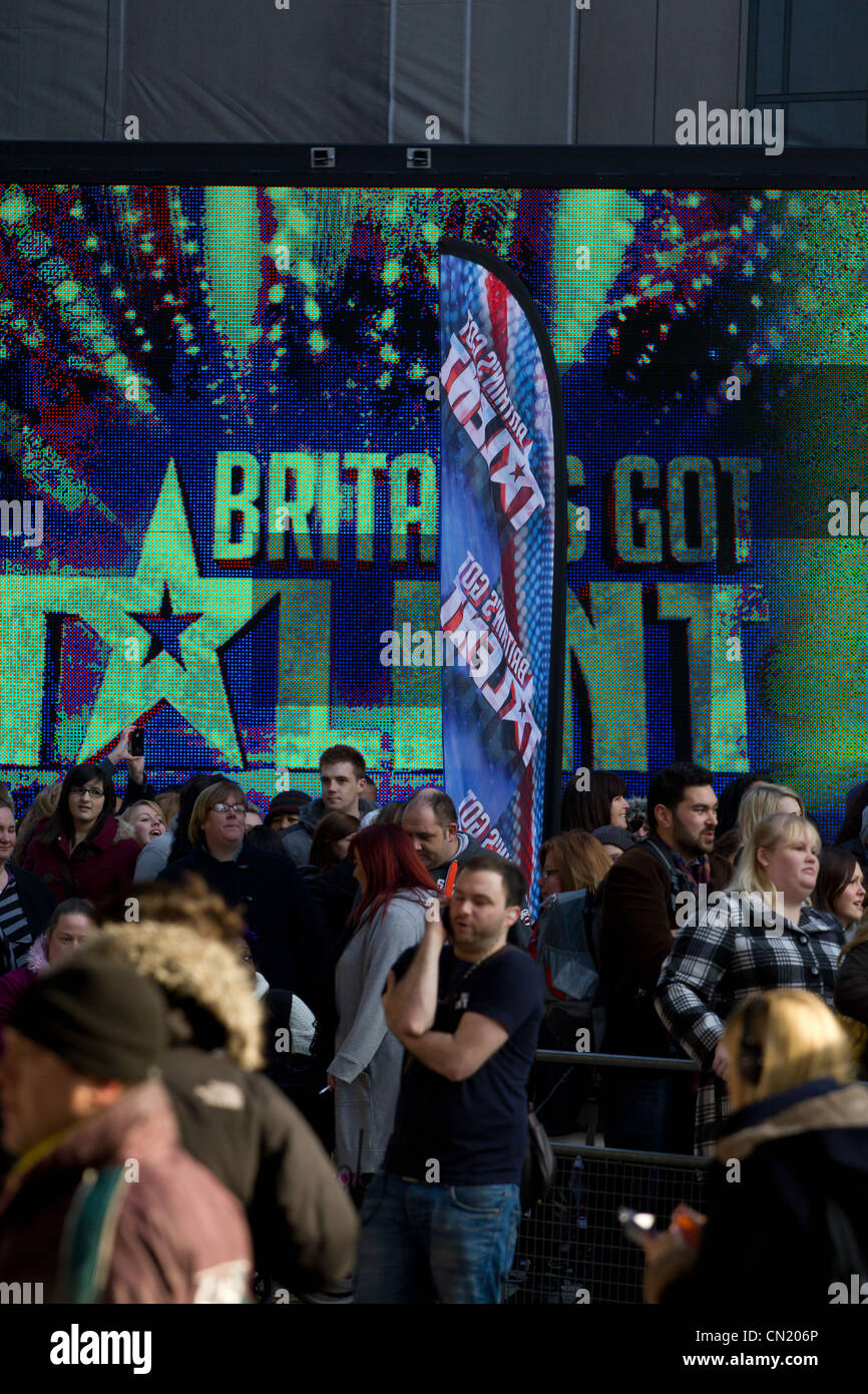 Britains Got Talent beginnt Einreichung in London Stockbild
