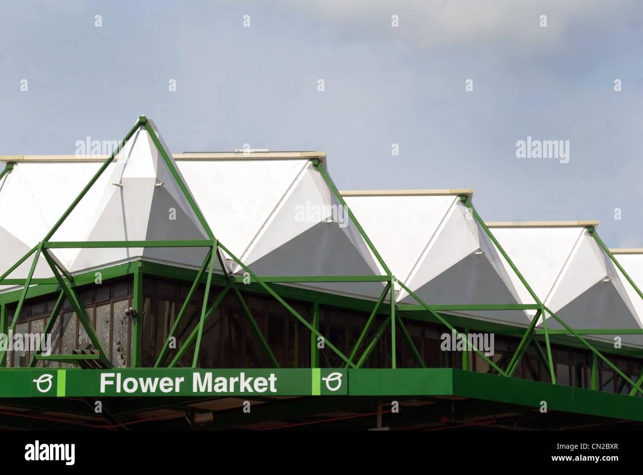 London Blumenmarkt von Tag Stockbild