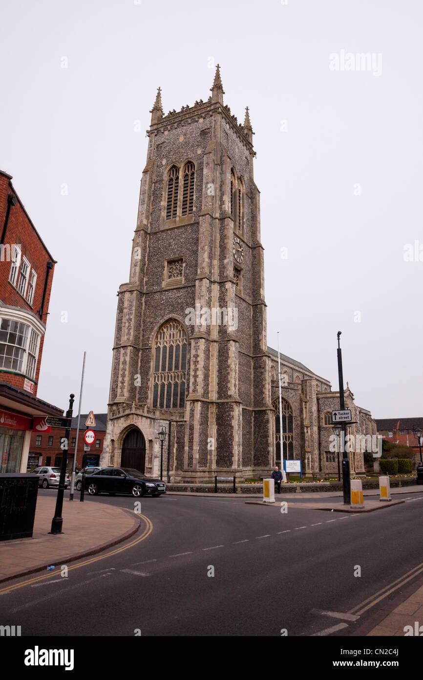 Cromer Pfarrkirche, Cromer, North Norfolk, England. Stockbild