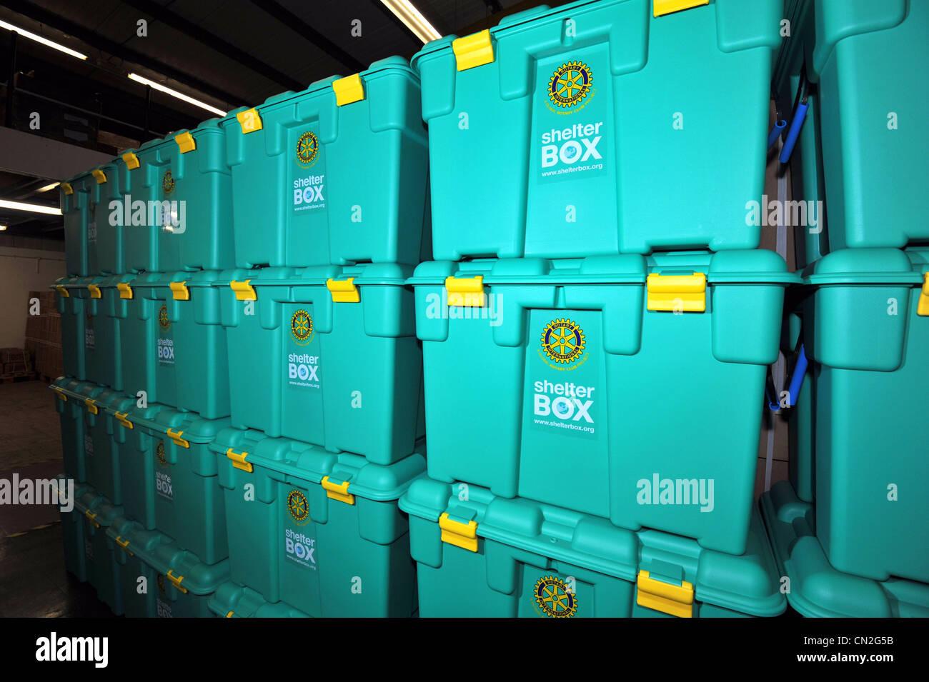 ShelterBox, Schaltschrank, Disaster Relief Nächstenliebe ShelterBox Stockbild