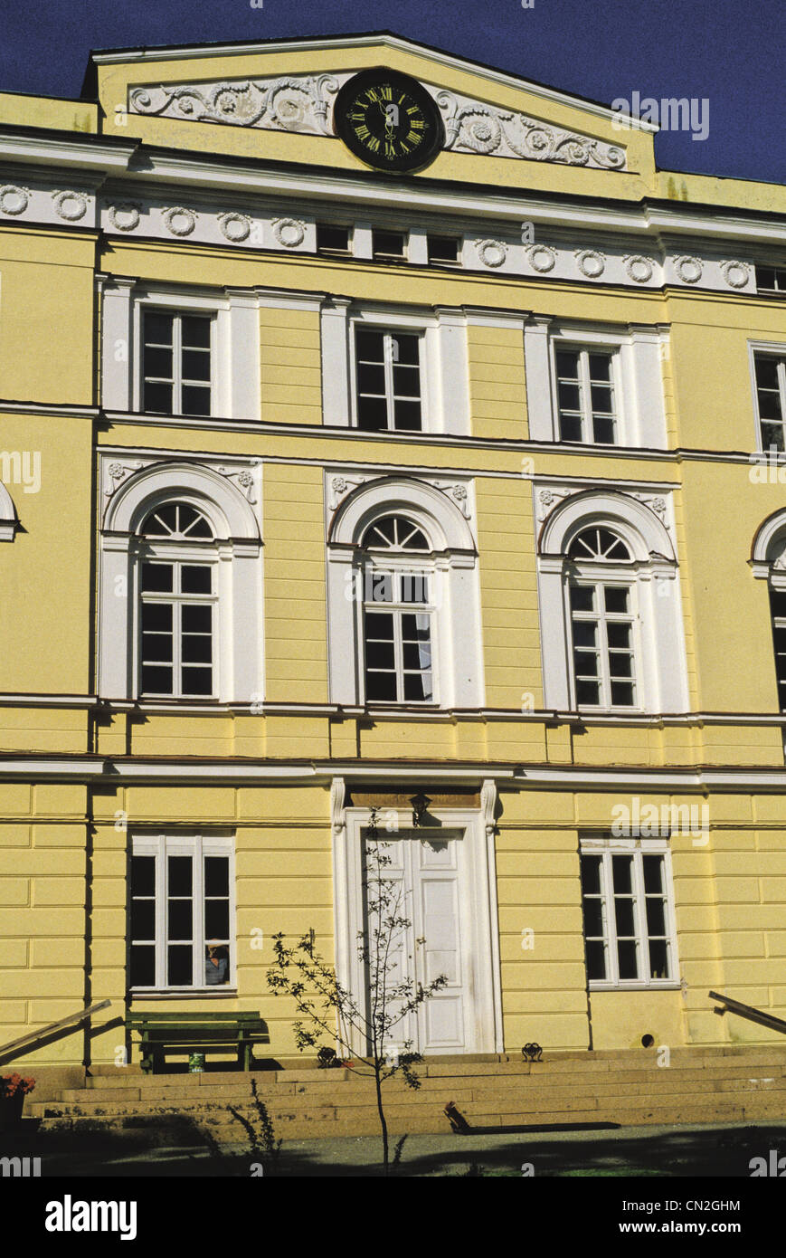 1836-Empire-Stil Vuojoki Manor wurde von Carl Ludvig Engel in Eurajoki, Finnland. Stockbild