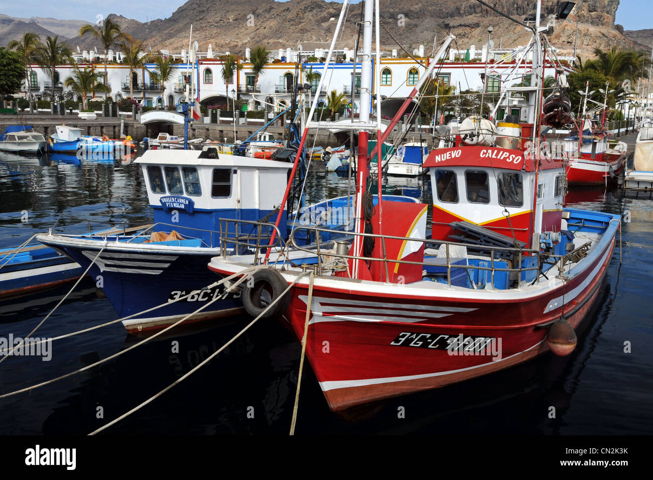 Puerto de Mogán, Puerto de Mogan, Gran Canaria, Kanarische Inseln Stockbild