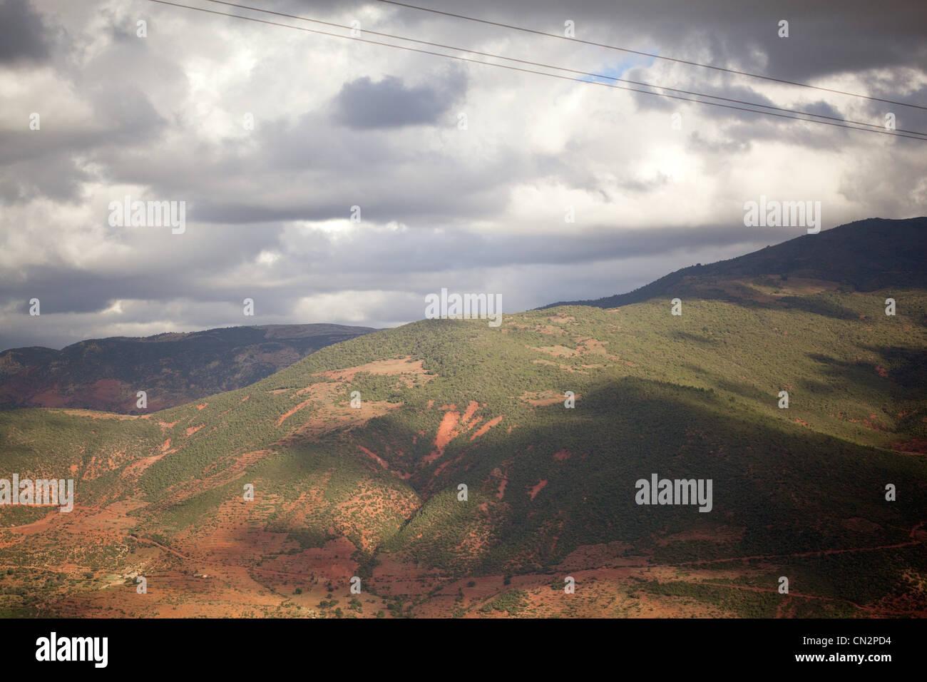 Berg-Landschaft, Marokko, Nordafrika Stockbild