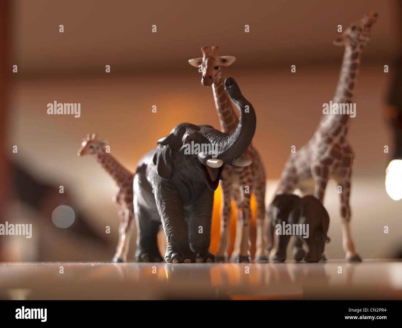 Safari-Tiere-Modelle Stockbild