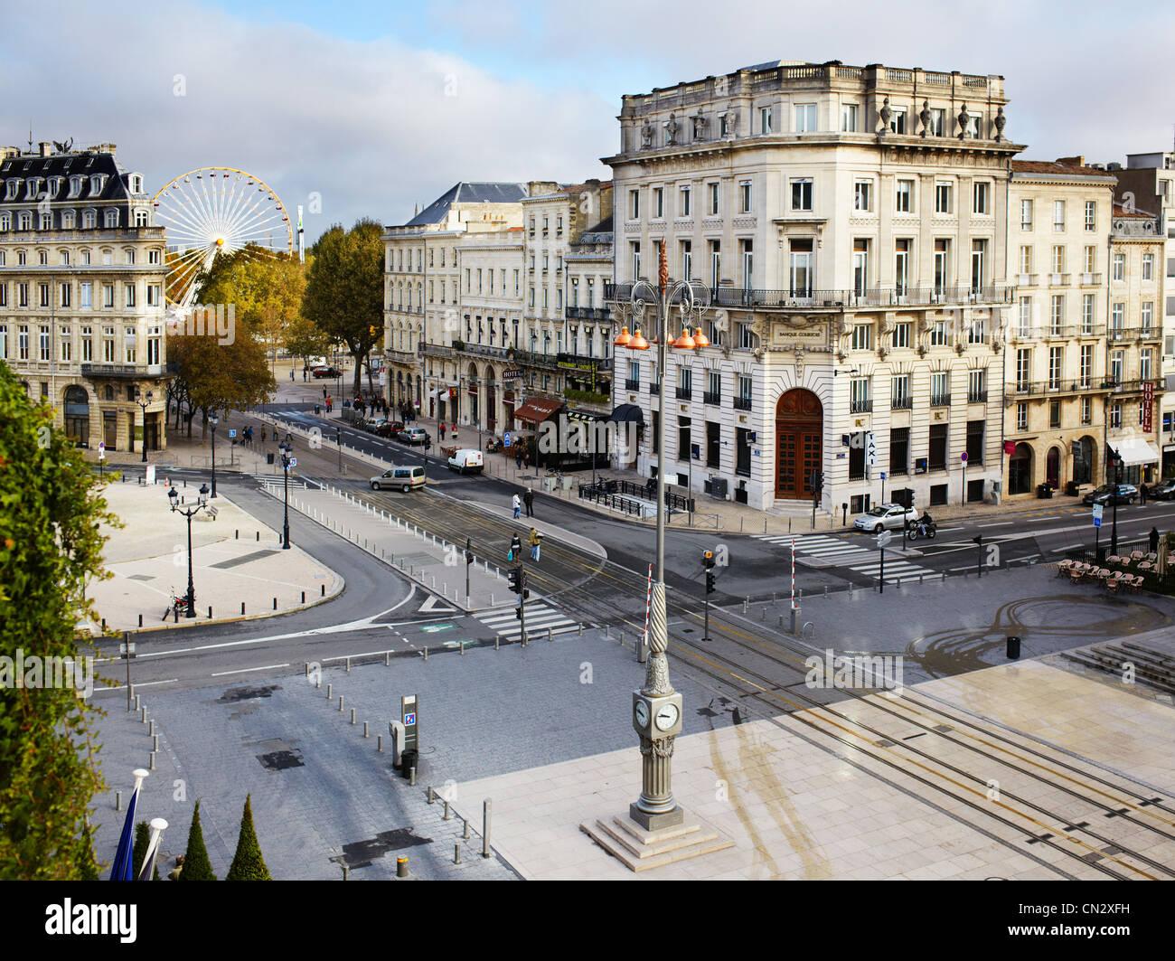 Platzieren Sie De La Comedie, Bordeaux, Frankreich Stockbild