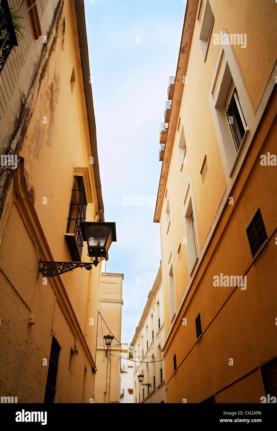 Gebäudehülle, Sevilla, Spanien Stockbild