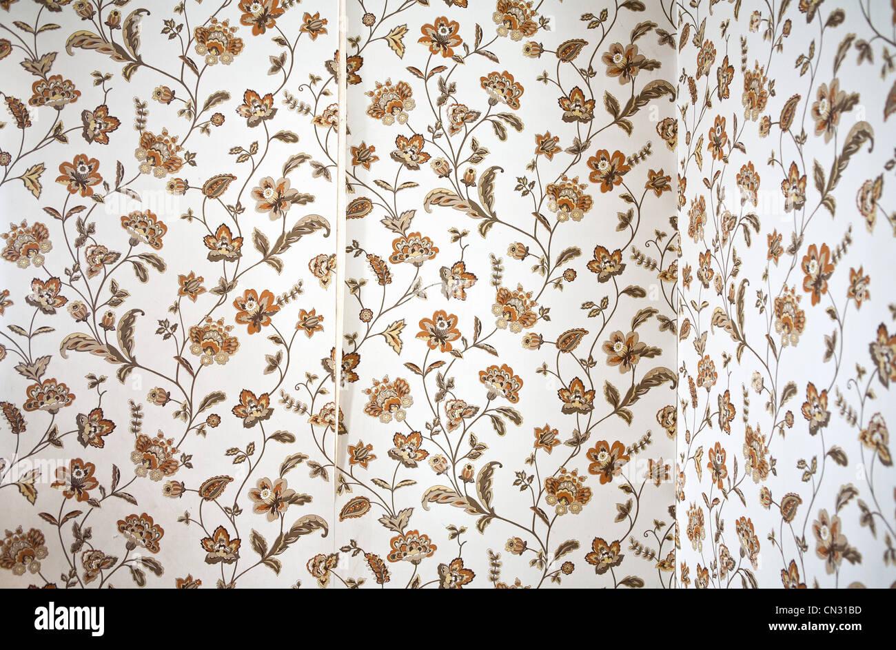 Peeling Blumentapete Stockbild