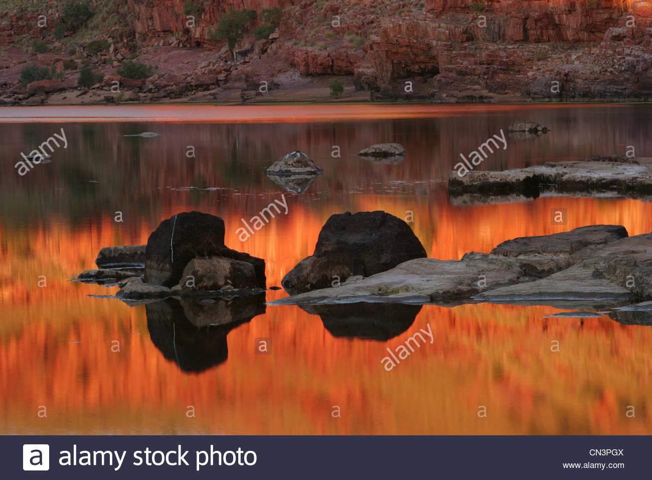 Dimond Schlucht, Mornington Sanctuary, Kimberley-Region in Western Australia Stockbild