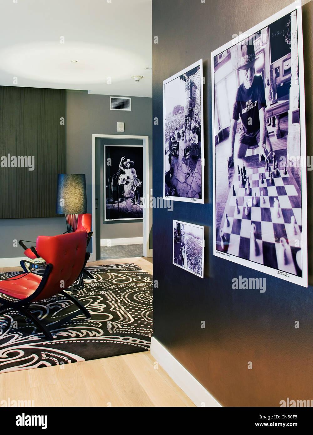 Extreme WOW Suite im Hotel W Austin Stockbild