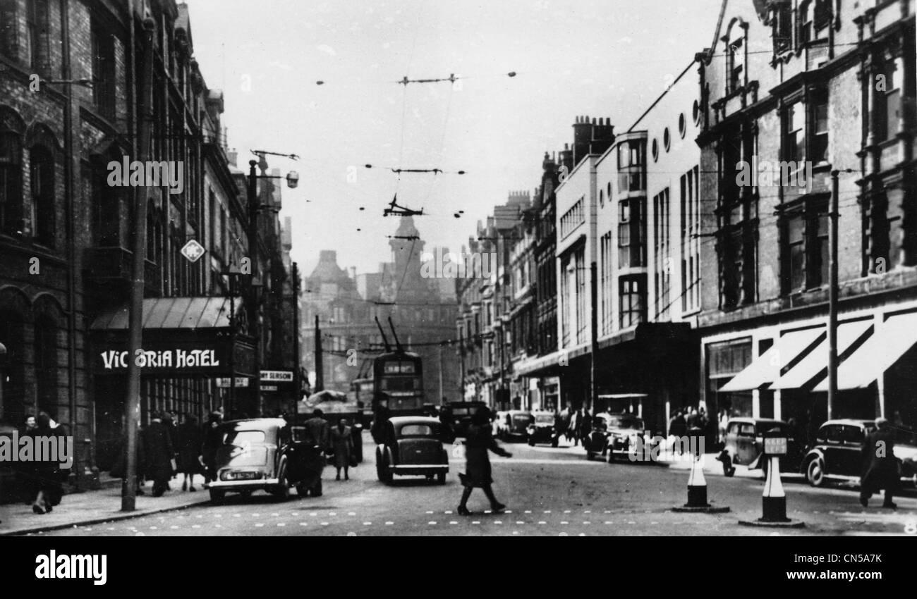 Lichfield Street, Wolverhampton, 1950er Jahre. Stockbild