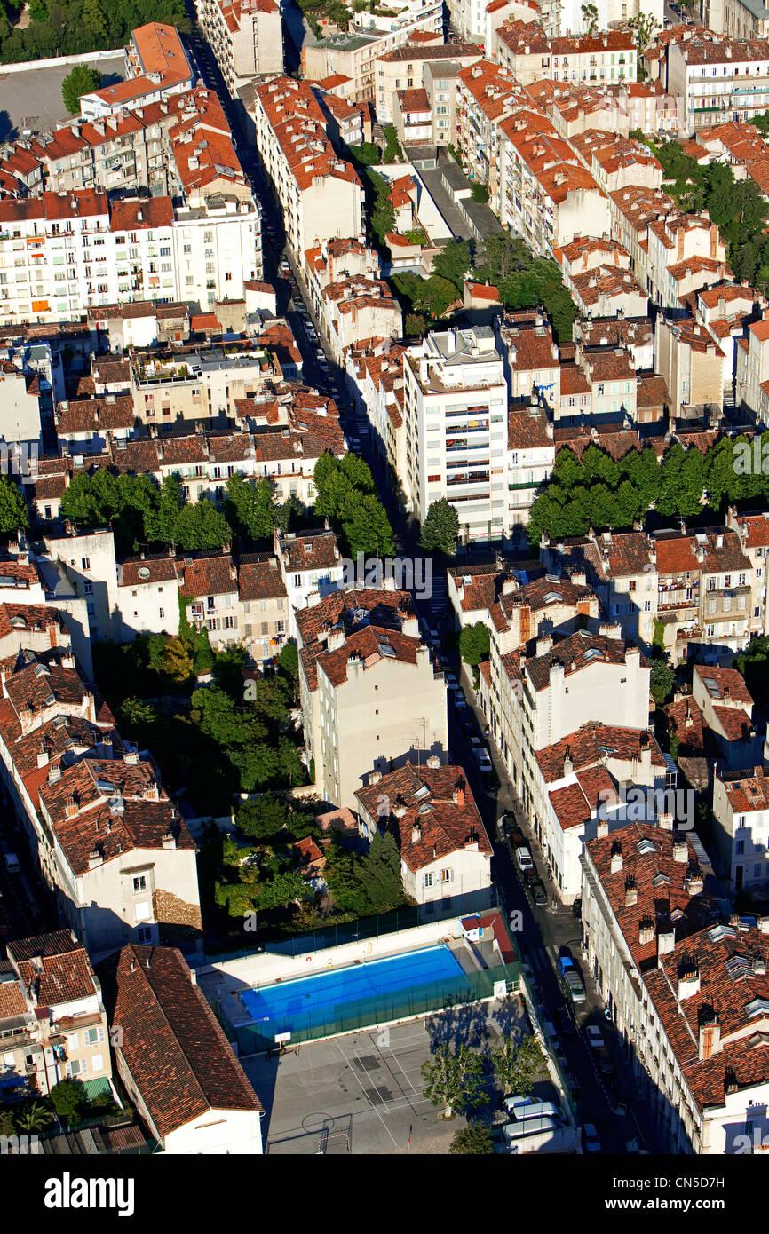 Frankreich, Bouches du Rhone, Marseille, 5. Bezirk, Jugend Arbeit von Jean Joseph Deutsch und Straße Jaubert Stockbild