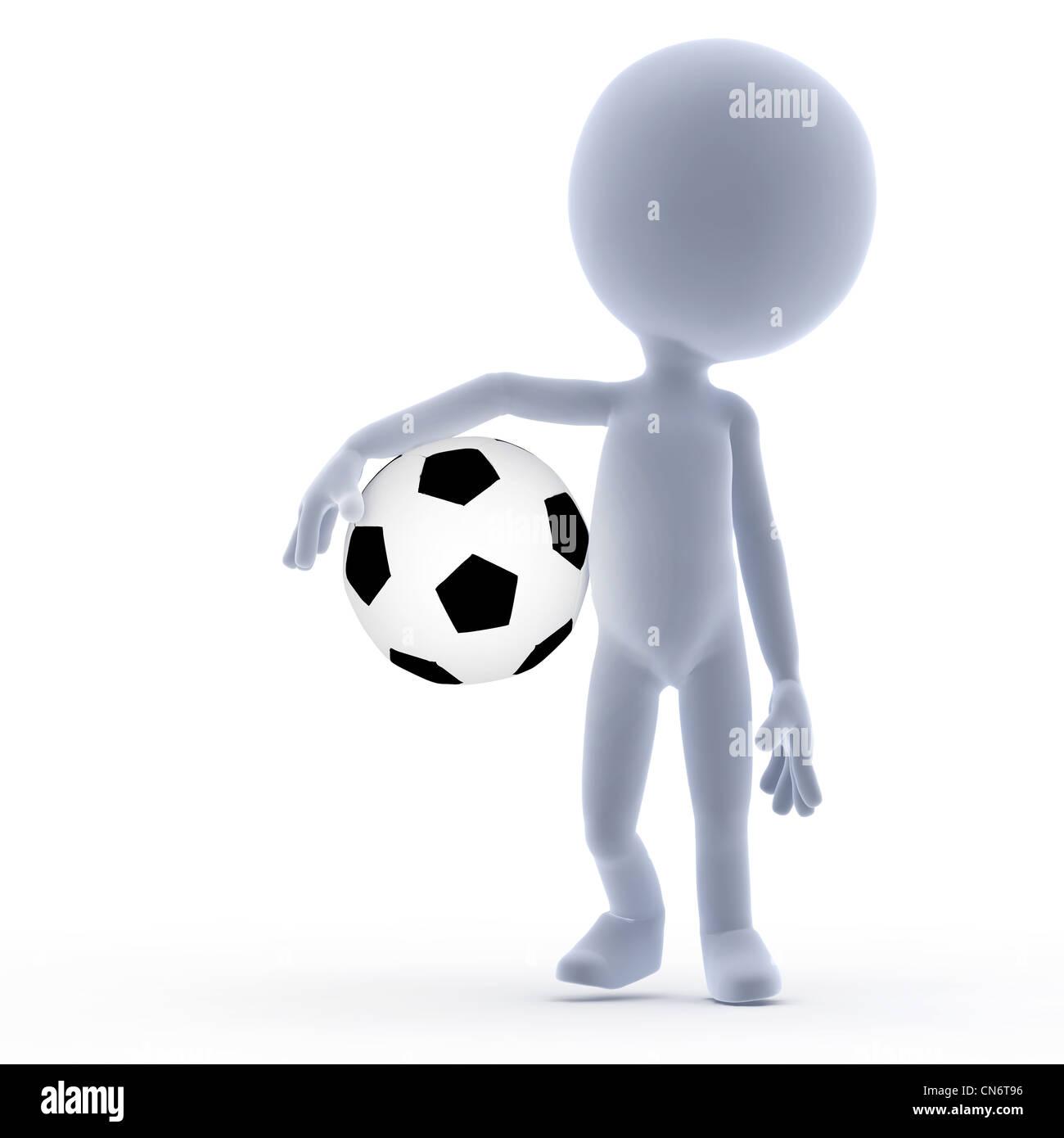 Fußball, Fußball hält den Ball. Toons, konzeptionelle Stockbild