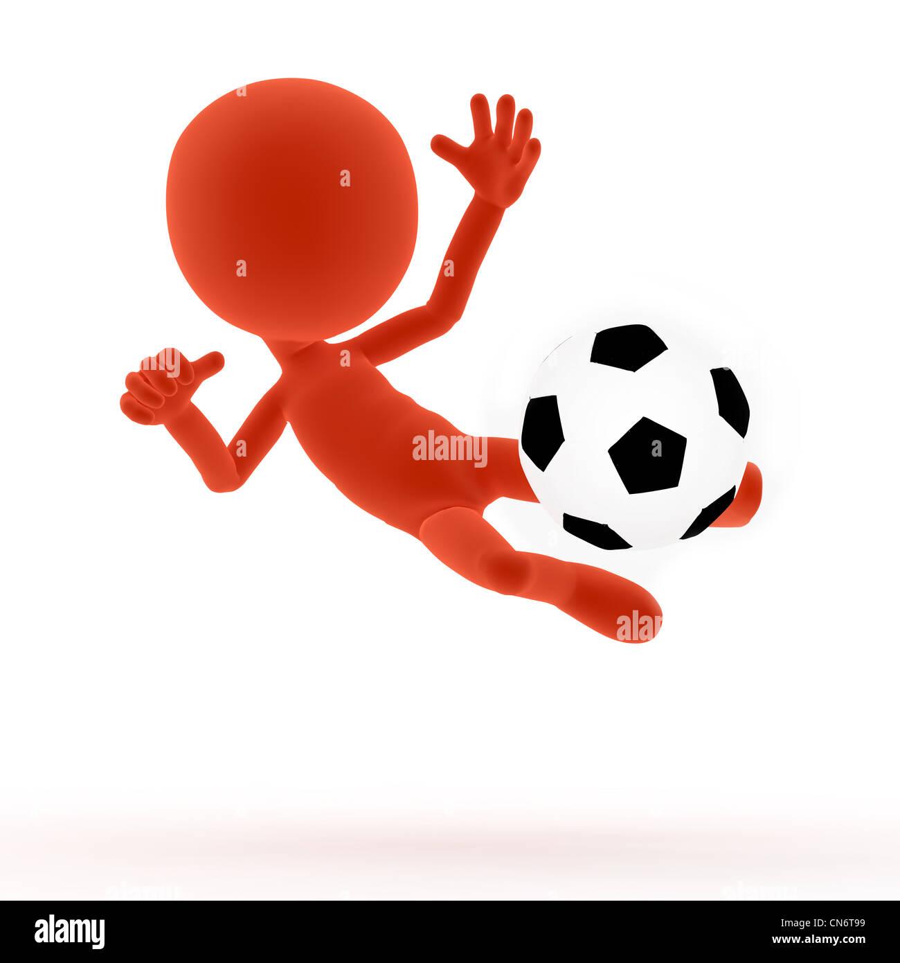 Fussball, Fußball, den Ball. Toons, konzeptionelle Stockbild