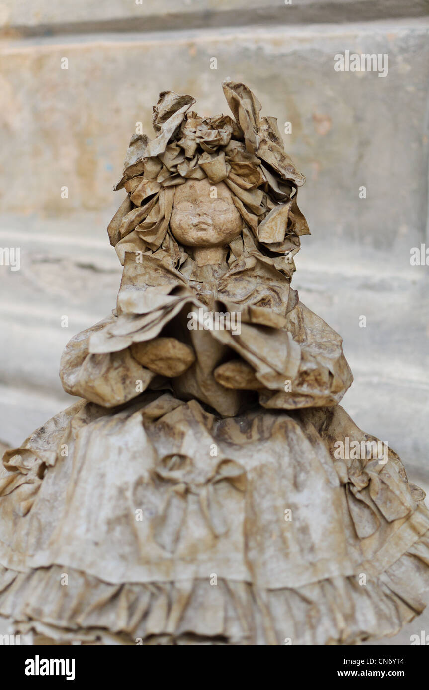 Papier Pappmaché-Puppe typisch für Apulien, Italien. Stockbild