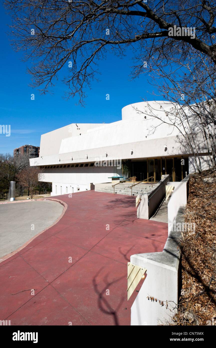 Kalita Humphreys Theater in Dallas, Texas eines der letzten Gebäude von Frank Lloyd Wright entworfen werden. Stockbild