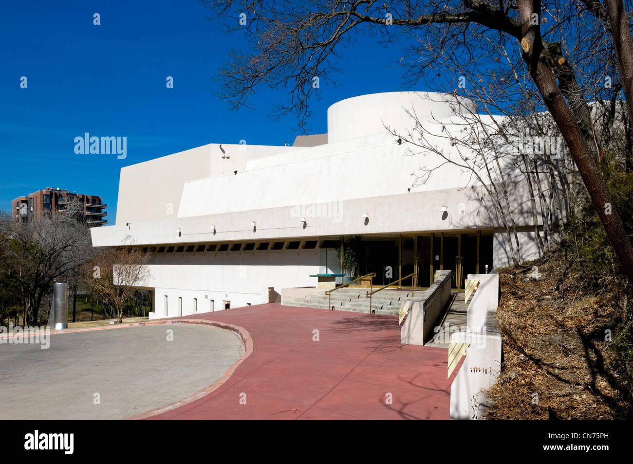 Kalita Humphreys Theater in Dallas, Texas - eines der letzten Gebäude von Frank Lloyd Wright entworfen werden Stockbild