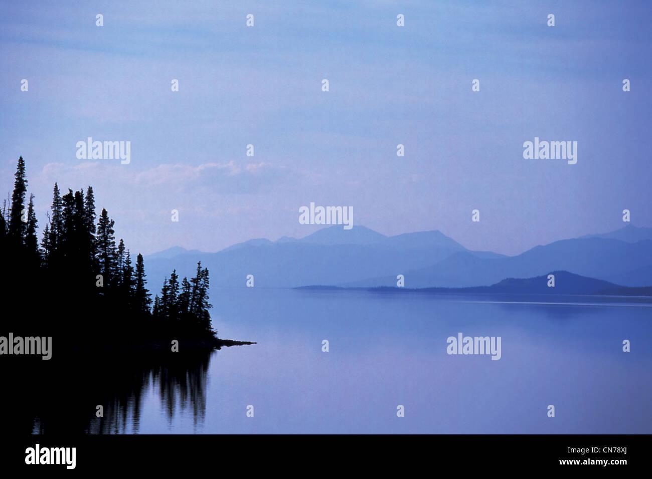 Kluane Lake, Kluane National Park, Yukon, Kanada Stockbild