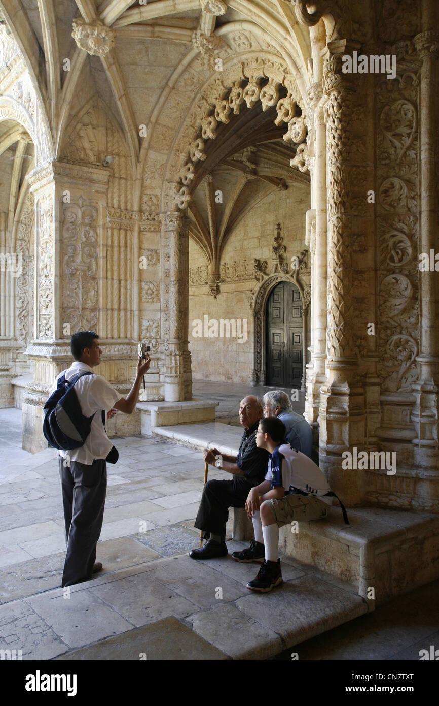 Hieronymus-Kloster, Lissabon, Portugal Stockfoto
