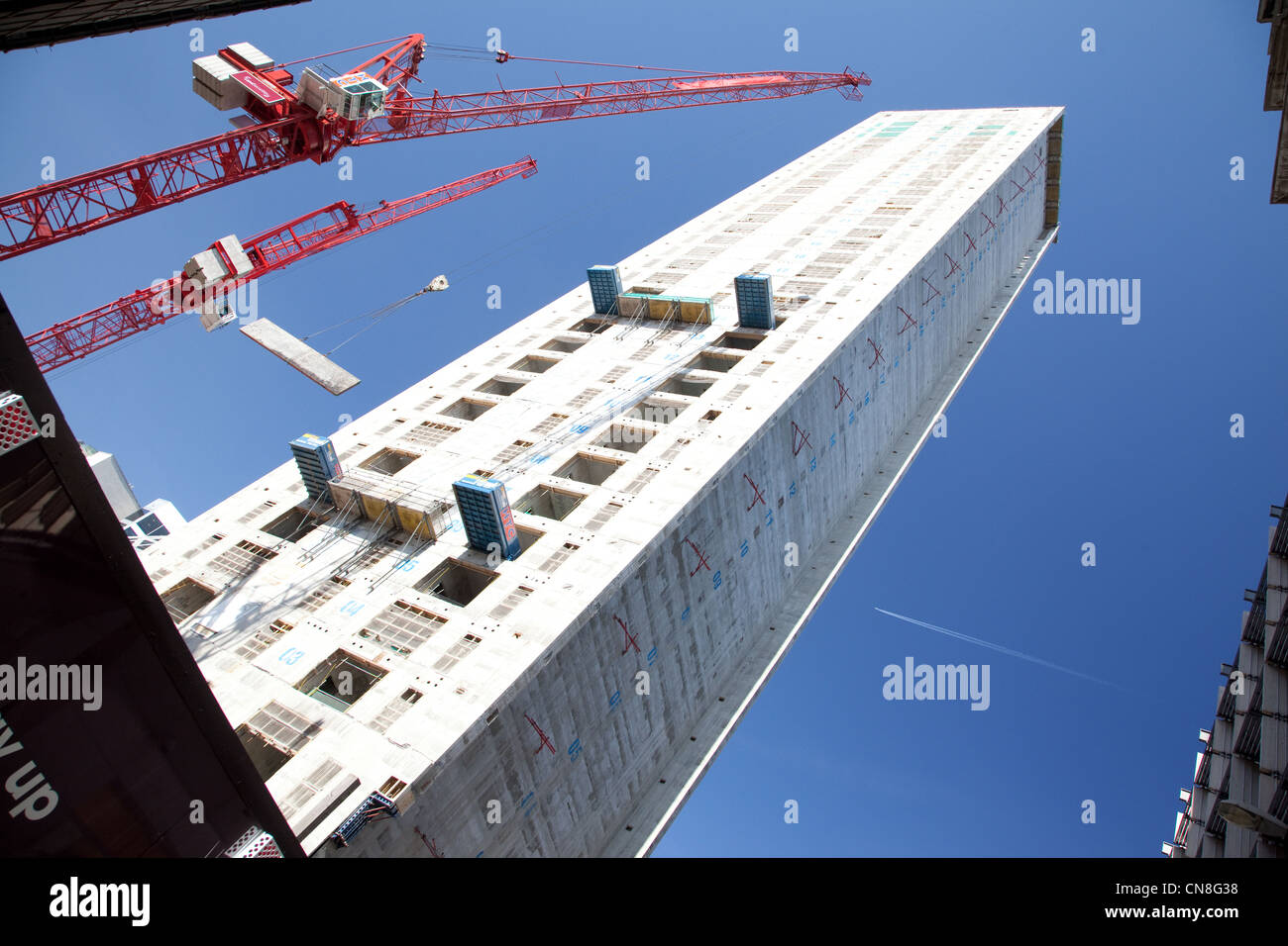 Bau des neuen Büroturm bei 20 Fenchurch Street in der City of London. Stockbild