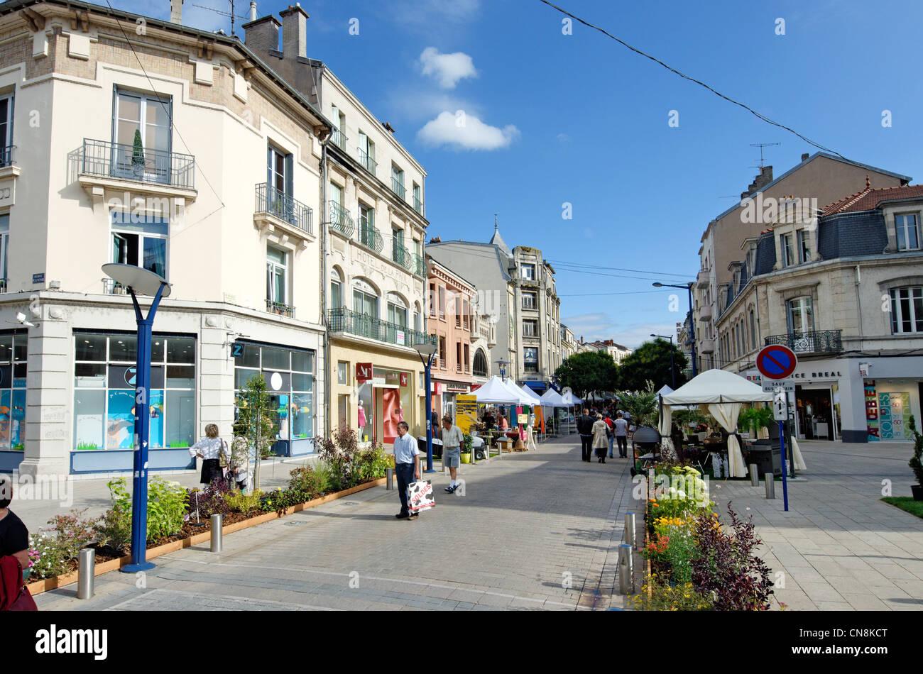 Frankreich, Meuse, Verdun, Rue Mazel, Aussteller auf der jährlichen Veranstaltung zum Thema Garten genannt Stockbild