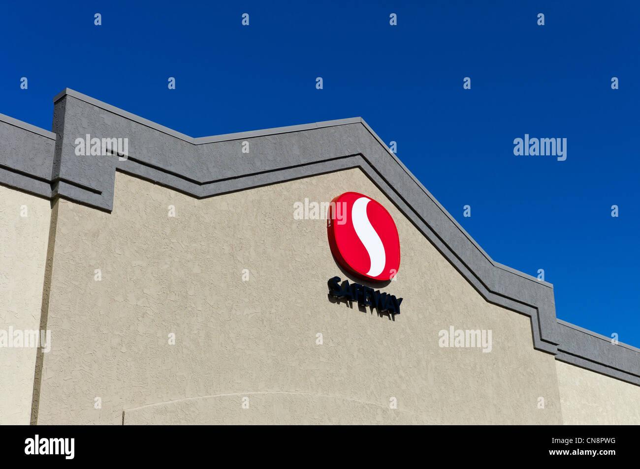 Safeway-Supermarkt, Salida, Colorado, USA Stockbild