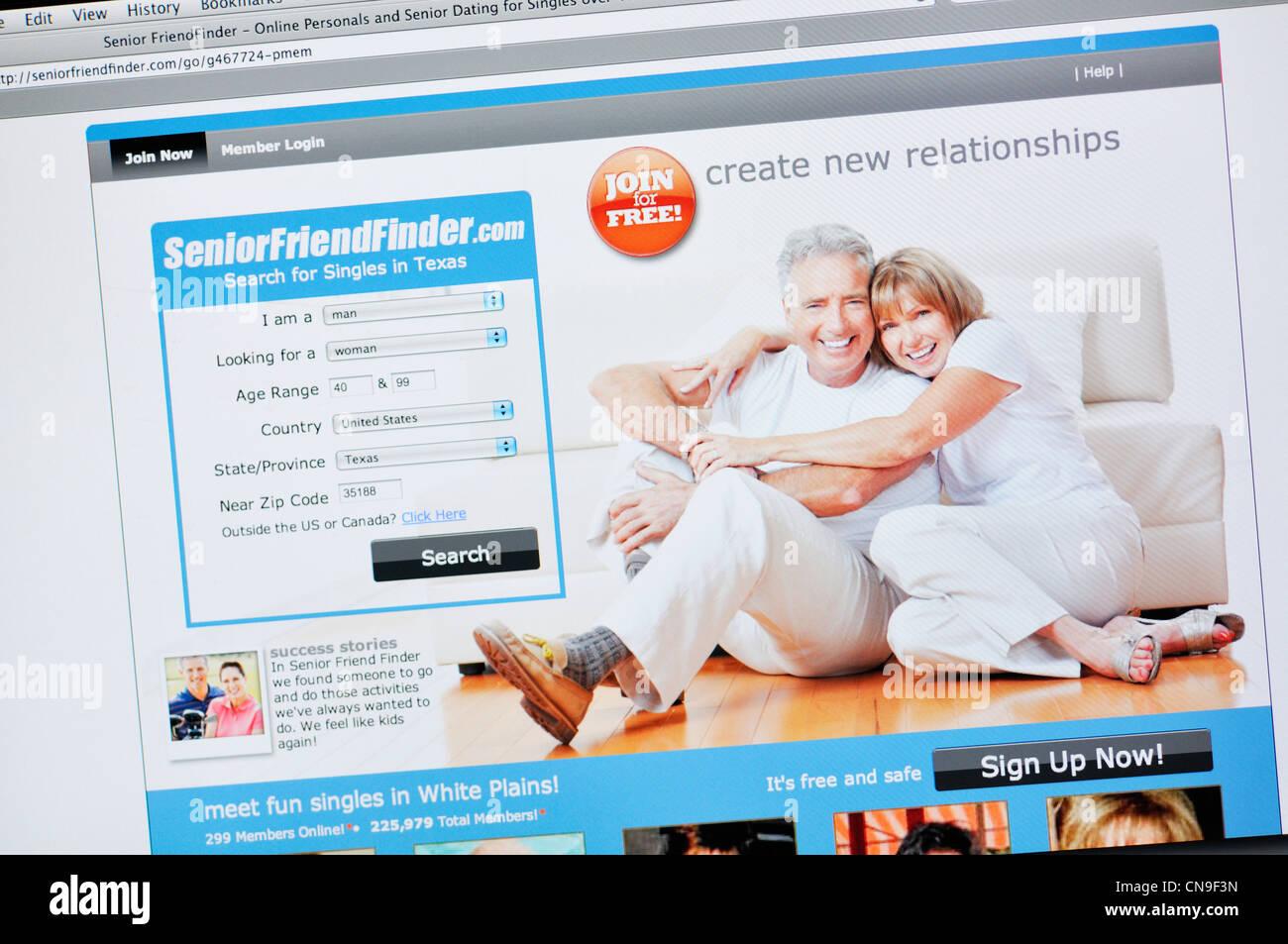 Online-Dating-Website Nutzung