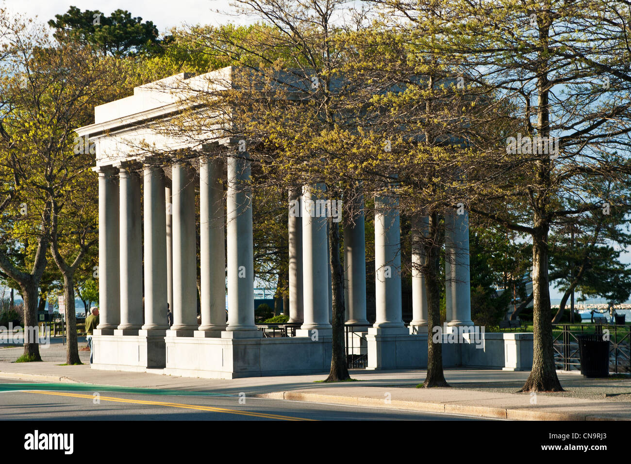Plymouth Rock Memorial, Plymouth Massachusetts Stockfoto